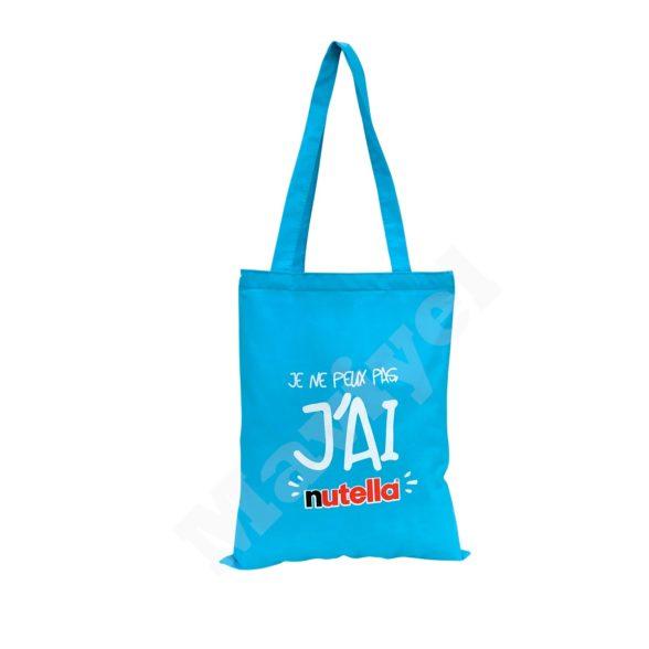 4 – FLAT MODEL COLORED COTTON BAG – NUTELLA