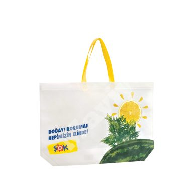 HEAT SEALED BOTTOM GUSSETED NONWOVEN BAG