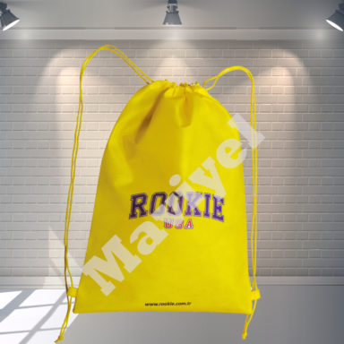 100% RECYCLABLE NONWOVEN DRAWSTRING BACKPACK – ROOKIE