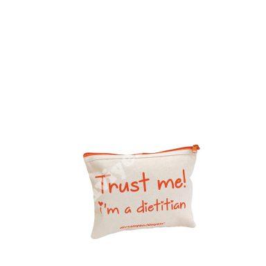 FLAT MODEL COTTON CANVAS MAKEUP CASE – TRUST ME