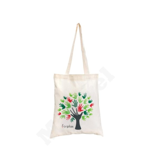 100% RECYLABLE FLAT MODEL NATURAL COTTON BAG – FARPLAS